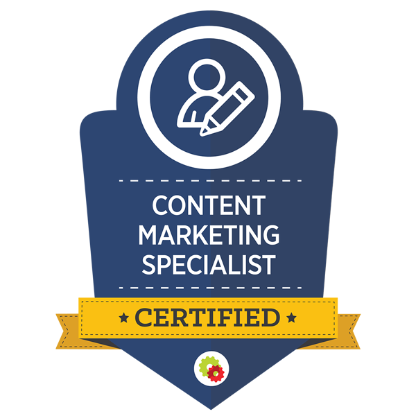 Certified Content Marketing Specialist badge