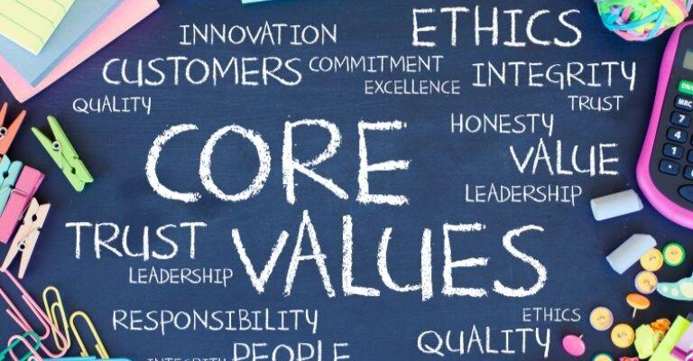 Company Vision 3. Core Values